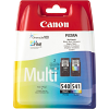 Original Canon PG-540 / CL-541 Black & Colour Combo Pack Ink Cartridges (5225B006)