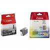 Original Canon PGI-5 Black & CLI-8 Cyan Magenta Yellow Multipack Ink Cartridges (0621B029 / 0628B001)