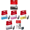 Original Canon PGI-7BK / PGI-9 Multipack Set Of 6 Ink Cartridges (PGI-7BK /PGI-9/C/M/Y/PBK/CLR)