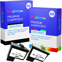 Premium Remanufactured Dell T0529 / T0530 Black & Colour Combo Pack Ink Cartridges (592-10039 & 592-10040)