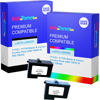 Compatible Dell 7Y743 / 7Y745 Black & Colour Combo Pack Ink Cartridges (592-10043 & 592-10045)