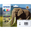 Original Epson 24 C, M, Y, K, LC, LM Multipack Ink Cartridges (C13T24284011)