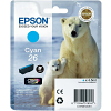 Original Epson 26 Cyan Ink Cartridge (C13T26124010)