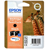 Original Epson T0711H Black Twin Pack High Capacity Ink Cartridges (C13T07114H10)