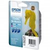 Original Epson T048C Cyan, Magenta, Black Pack Ink Cartridges (C13T048C4010)