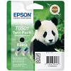 Original Epson T050 Black Twin Pack Ink Cartridges (C13T05014210)