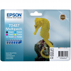 Original Epson T0487 C, M, Y, K, LC, LM Multipack Ink Cartridges (C13T04874010)