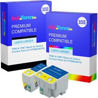 Premium Compatible Epson T066 & T067 Black & Colour Combo Pack Ink Cartridges (C13T06624010)