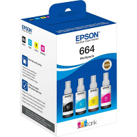Original Epson 664 CMYK Multipack Ink Bottles (T6641 / T6642 / T6643 / T6644)