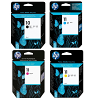 Original HP 10 / 11 CMYK Multipack Ink Cartridges (C4844AE / C4836AE / C4837AE / C4838AE)