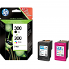Original HP 300 Black & Colour Combo Pack Ink Cartridges (CN637EE)