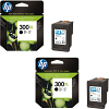 Original HP 300XL Black Twin Pack High Capacity Ink Cartridges (D8J43AE)