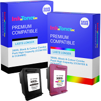 Premium Compatible HP 300XL Black & Colour Combo Pack High Capacity Ink Cartridges (CC641EE-UUS & CC644EE)