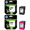 Original HP 300XL Black & Colour Combo Pack High Capacity Ink Cartridges (CC641EE-UUS & CC644EE)