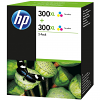 Original HP 300XL Colour Twin Pack High Capacity Ink Cartridges (D8J44AE)