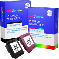 Premium Compatible HP 301XL Black & Colour Combo Pack High Capacity Ink Cartridges (CH564EE & CH563EE)