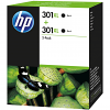 Original HP 301XL Black Twin Pack High Capacity Ink Cartridges (D8J45AE)
