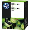 Original HP 301XL Black Twin Pack High Capacity Ink Cartridges