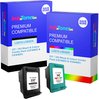 Premium Compatible HP 337 / 343 Black & Colour Combo Pack Ink Cartridges (C8766EE & C9364EE)