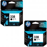 Original HP 338 Black Twin Pack Ink Cartridges (CB331EE)