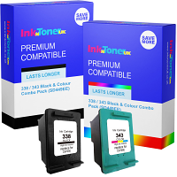 Premium Remanufactured HP 338 / 343 Black & Colour Combo Pack Ink Cartridges (SD449EE)