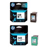 Original HP 338 / 343 Black & Colour Combo Pack Ink Cartridges (SD449EE)