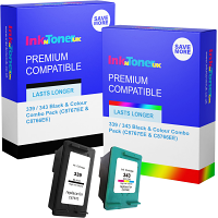 Premium Compatible HP 339 / 343 Black & Colour Combo Pack Ink Cartridges (C8767EE & C8766EE)