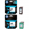 Original HP 339 / 343 Black & Colour Combo Pack Ink Cartridges (C8767EE & C8766EE)