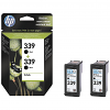 Original HP 339 Black Twin Pack Ink Cartridges (C9504EE)