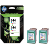 Original HP 344 Colour Twin Pack Ink Cartridges (C9505EE)
