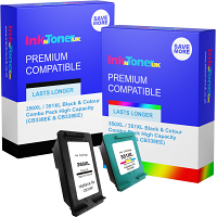 Premium Compatible HP 350XL / 351XL Black & Colour Combo Pack High Capacity Ink Cartridges (CB336EE & CB338EE)
