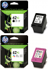 Original HP 62XL Black & Colour Combo Pack High Capacity Ink Cartridges (C2P05AE & C2P07AE)