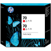 Original HP 70 Red Twin Pack Ink Cartridges (CB347A)