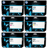 Original HP 727 C, M, Y, MBK, PBK, GY Multipack High Capacity Ink Cartridges (B3P19A/ B3P20A/ B3P23A/ B3P21A/ B3P22A/ B3P24A)