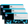 Original HP 771 Light Cyan Triple Pack Ink Cartridges (B6Y36A)