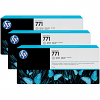 Original HP 771 Light Grey Triple Pack Ink Cartridges (B6Y38A)