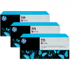 Original HP 771 Magenta Triple Pack Ink Cartridges (B6Y33A)