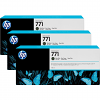 Original HP 771 Matte Black Triple Pack Ink Cartridges (B6Y31A)