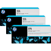 Original HP 771 Photo Black Triple Pack Ink Cartridges (B6Y37A)