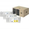 Original HP 83 Yellow Triple Pack UV Ink Cartridges (C5075A)