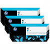 Original HP 91 Cyan Triple Pack Ink Cartridges (C9483A)