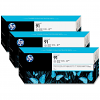Original HP 91 Light Grey Triple Pack Ink Cartridges (C9482A)