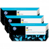 Original HP 91 Yellow Triple Pack Ink Cartridges (C9485A)