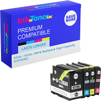 Premium Compatible HP 932XL / 933XL CMYK Multipack High Capacity Ink Cartridges (C2P42AE)