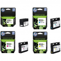 Original HP 932XL / 933XL CMYK Multipack High Capacity Ink Cartridges (C2P42AE)