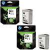 Original HP 940XL Black Twin Pack High Capacity Ink Cartridges (C4906AE)