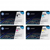 Original HP 646X / 646A CMYK Multipack High Capacity Toner Cartridges (CE264X/ CF031A/ CF033A/ CF032A)