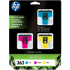 Original HP 363 Cyan Magenta Yellow Pack Ink Cartridges (CB333EE)