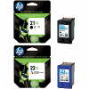 Original HP 21XL / 22XL Black & Colour Combo Pack High Capacity Ink Cartridges (C9351CE & C9352CE)