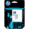 Original HP 38 Light Cyan Ink Cartridge (C9418A)